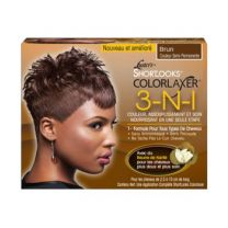 Pink ShortLooks Color Relaxer Kit Brown