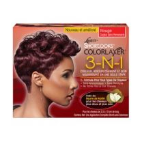 Pink ShortLooks Color Relaxer Kit Red