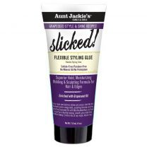 Aunt Jackie's Grapeseed Style & Shine Recipes SLICKED! Flexible Styling Glue