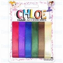Chloe Hair Ribbons 6 Pieces Per Pack Dark Assorted