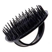D6 – Be-Bop Shampoo/Massage Borstel | Zwart