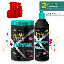 Novex Mystic Black Mask (1kg) & Leave In (500ml) Bundle (10% Off Limited)