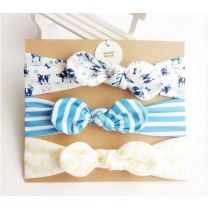 MHS Handmade Hair Blue - White - Dog 3 Pieces