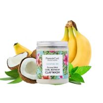 Flora & Curl Coconut Mint Curl Refresh Clay Wash  260g