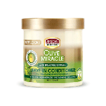 AFRICAN PRIDE OLIVE MIRACLE LEAVE-IN CONDITIONER CREME 15oz