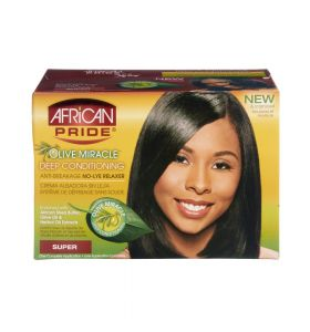 AFRICAN PRIDE OLIVE MIRACLE DEEP CONDITIONING ANTI-BREAKAGE NO-LYE RELAXER - SUPER