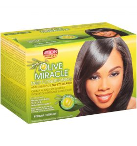 AFRICAN PRIDE OLIVE MIRACLE DEEP CONDITIONING ANTI-BREAKAGE NO-LYE RELAXER - REGULAR