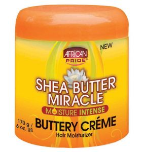 African Pride Shea Butter Miracle Buttery Creme Moisturizer 6oz