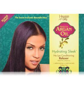 Hawaiian Silky Argan Oil Hydrating Sleek No Lye Relaxer Super