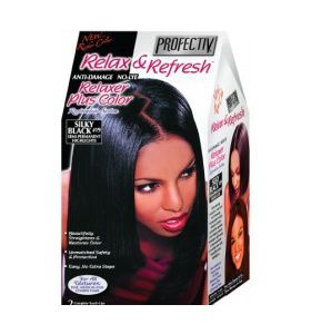 PROFECTIV RELAX & REFRESH NO-LYE RELAXER PLUS COLOR RESTORATIVE SYSTEM - SILKY BLACK - 2 TOUCH-UPS OR 1 APPLICATION