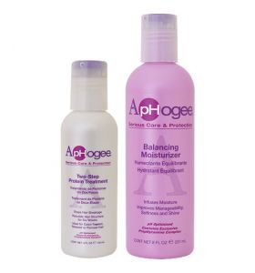 Aphogee Two Step Protein 118 ML + Balancing Moisturizer 237 ML Bundle Actie