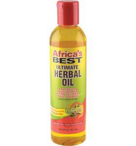 Africa's Best Ultimate Herbal Oil Revitalizes Dry Hair Scalp Skin Oil 8oz