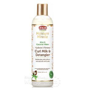 African Pride Aloe & Coconut Water Hydrate & Renew Curl Milk & Detangler 12 oz