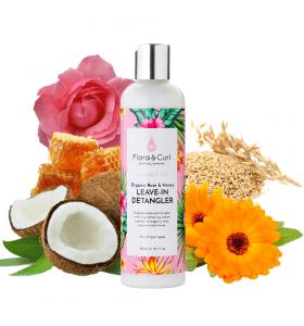 Flora & Curl Organic Rose & Honey Leave-in Detangler 300ML