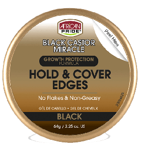 African Pride Black Castor Miracle Hold & Cover Edges 64 gr