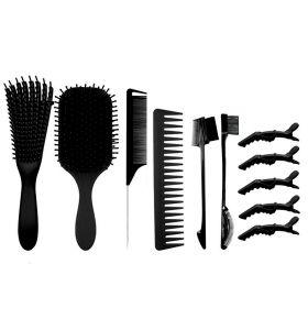 Detangling Hair Brush Set - Black
