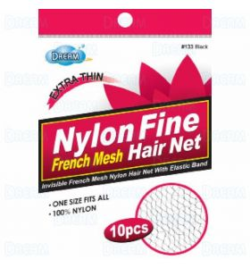 Dream World Extra Thin Hair Net Black 10Pieces