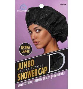 Dream World Jumbo Deluxe Luxury Shower Cap Extra Large - Black