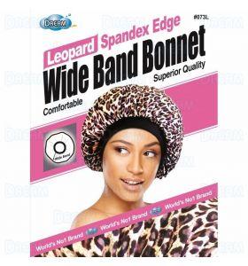 Dream World Satin Edge Wide Band Deluxe Luxury Bonnet - Leopard