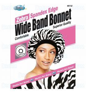 Dream World Satin Edge Wide Band Deluxe Luxury Bonnet - Zebra