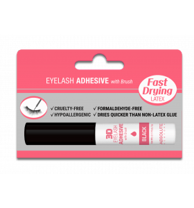 Latex Eyelash Adhesive with Brush - Black