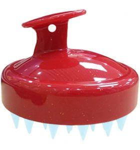 MHS Hair Scalp Massager Shampoo Brush - Red Blue