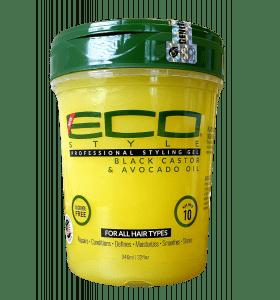EcoStyler Styling Gel Black Castor & Avocado Oil 32oz